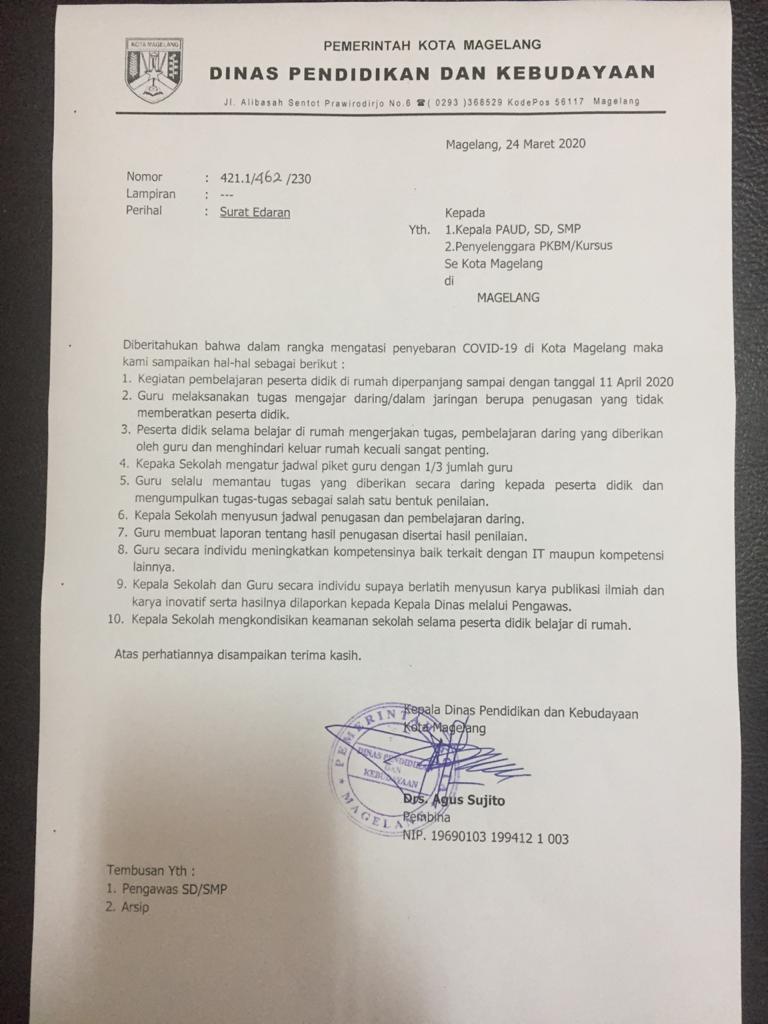 Belajar Di Rumah Diperpanjang Pemerintah Provinsi Jawa Tengah