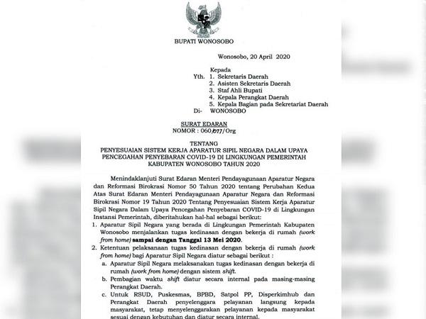 Kerja Dari Rumah Diperpanjang Asn Wonosobo Wajib Setor E Kinerja Harian Pemerintah Provinsi Jawa Tengah