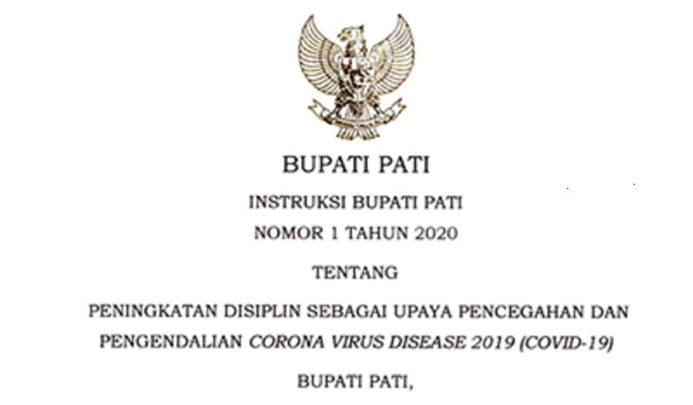 Tiap Hari Umumkan Instruksi Bupati Agar Warga Patuhi Protokol Kesehatan Pemerintah Provinsi Jawa Tengah